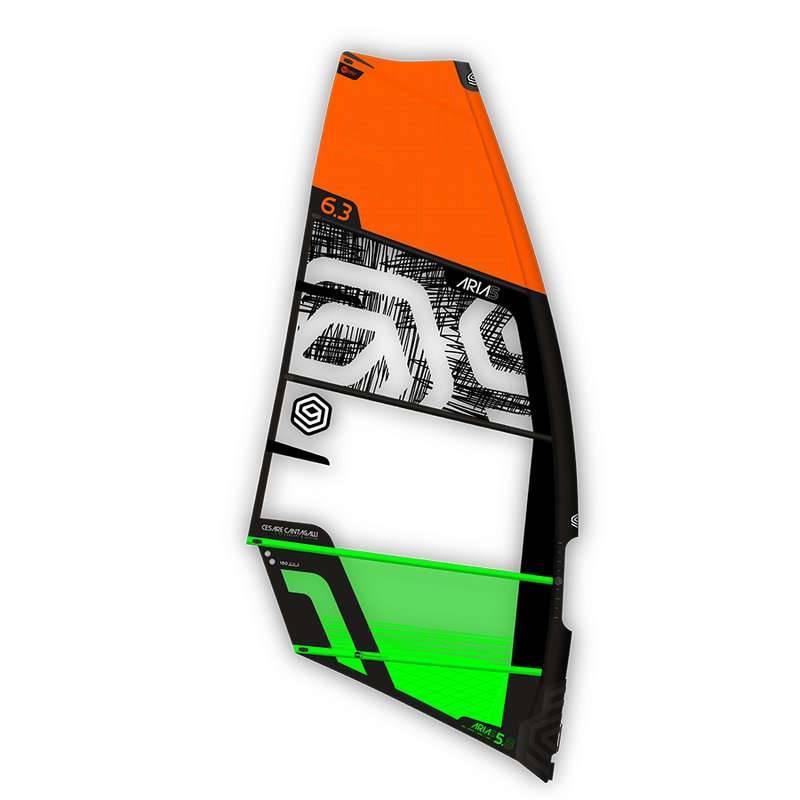 Windsurfen I-99 CESARE CANTAGALLI Aria 5 Freemove + Foil